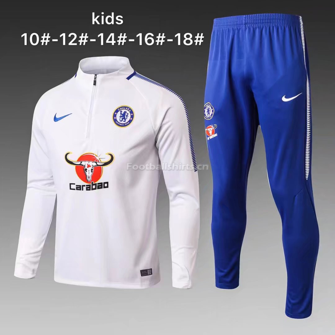 Kids Chelsea Training Suit White 2017/18