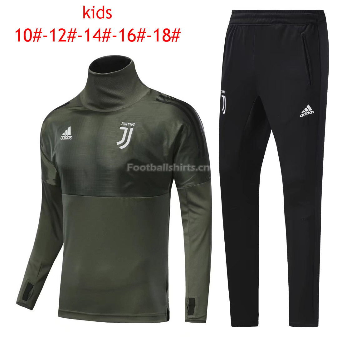 Kids Juventus Training Suit Turtle Neck Champions League Green 2