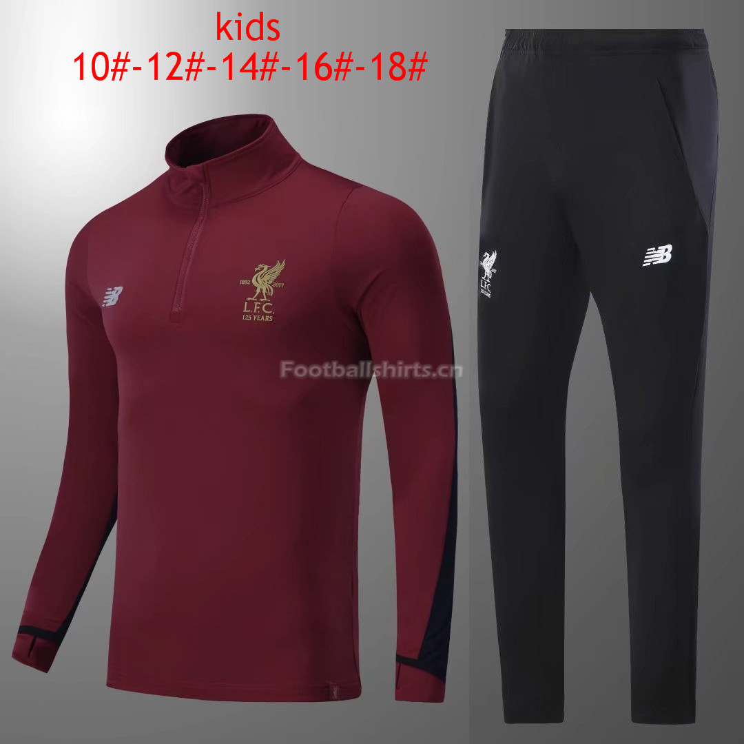 Kids Liverpool Training Suit Burgundy 2017/18