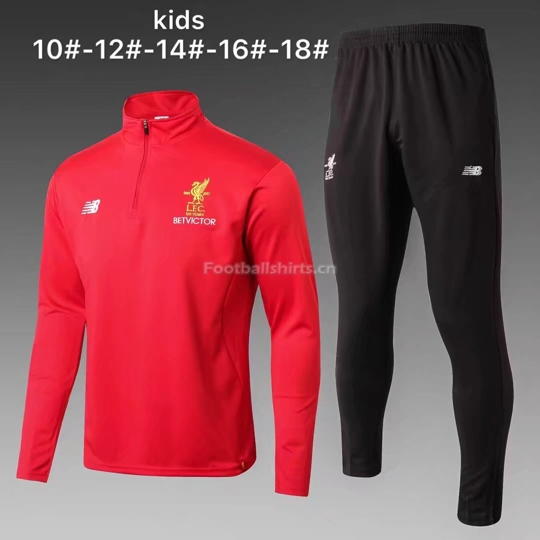 Kids Liverpool Training Suit Red 2017/18