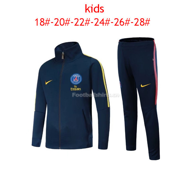 Kids PSG Jacket + Pants Suit Royal Blue 2017/18