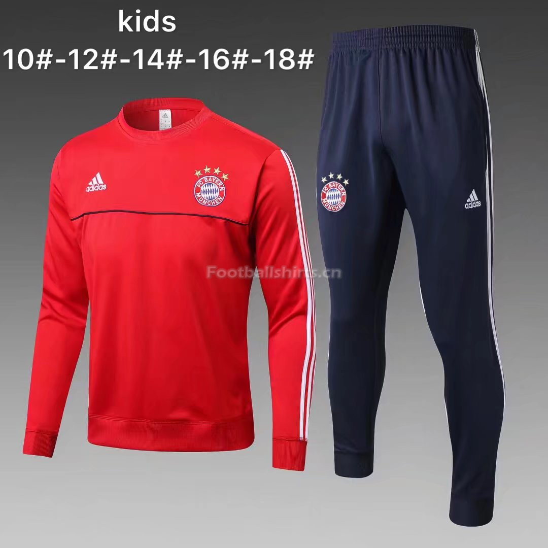 Kids Bayern Munich Training Suit O'Neck Red 2017/18