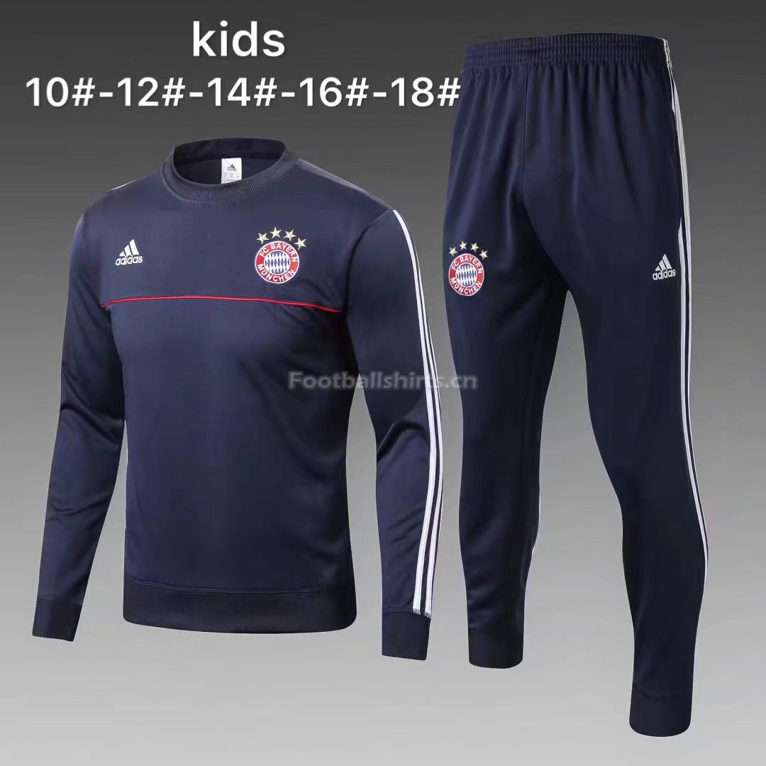 Kids Bayern Munich Training Suit O'Neck Royal Blue 2017/18