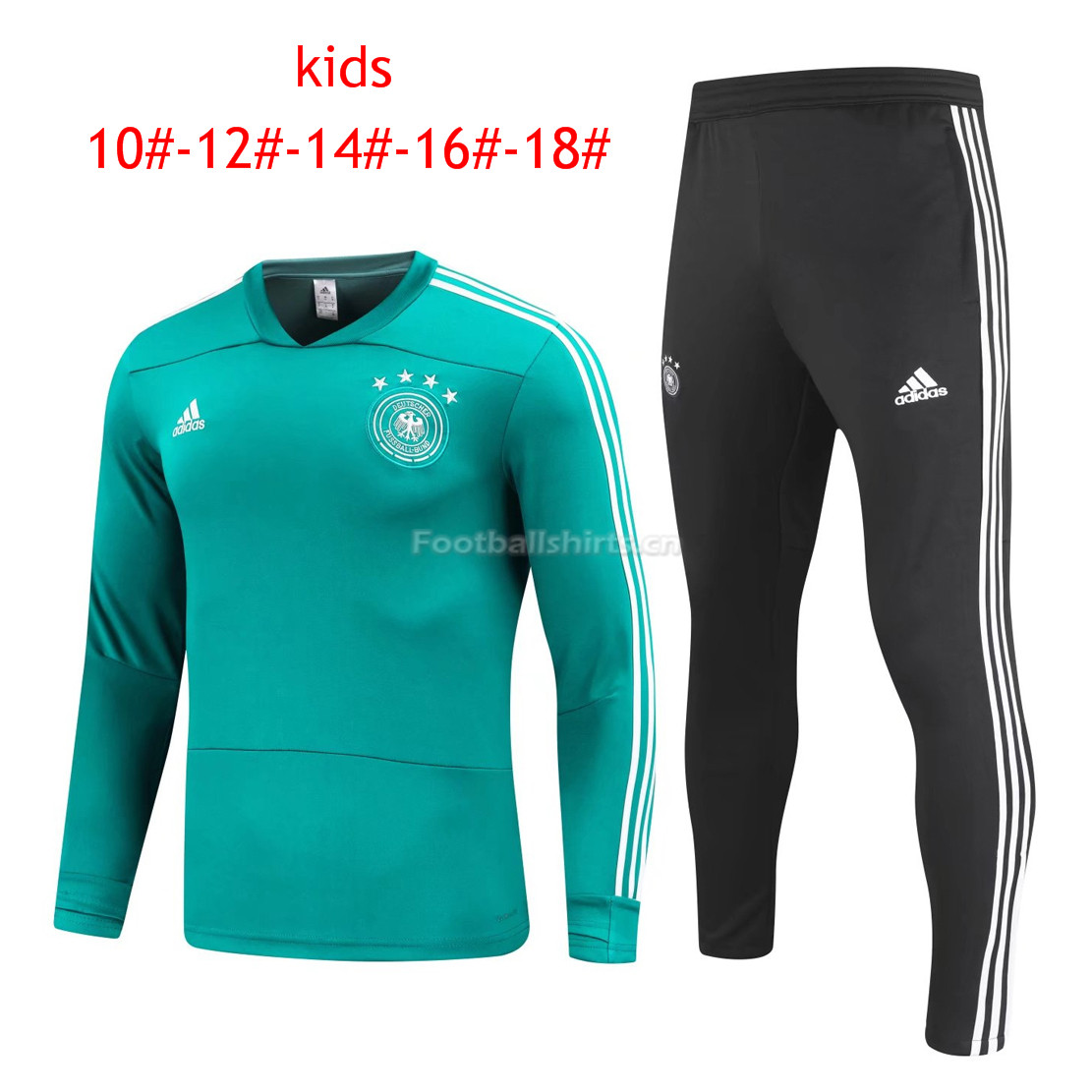 Kids Germany FIFA World Cup 2018 Training Suit O'Neck Green