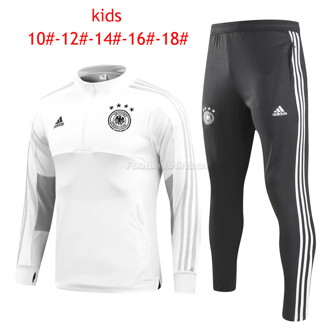 Kids Germany FIFA World Cup 2018 Training Suit O'Neck White