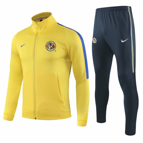 Club America Aguilas Training Jacket Suits Yellow 2019/20