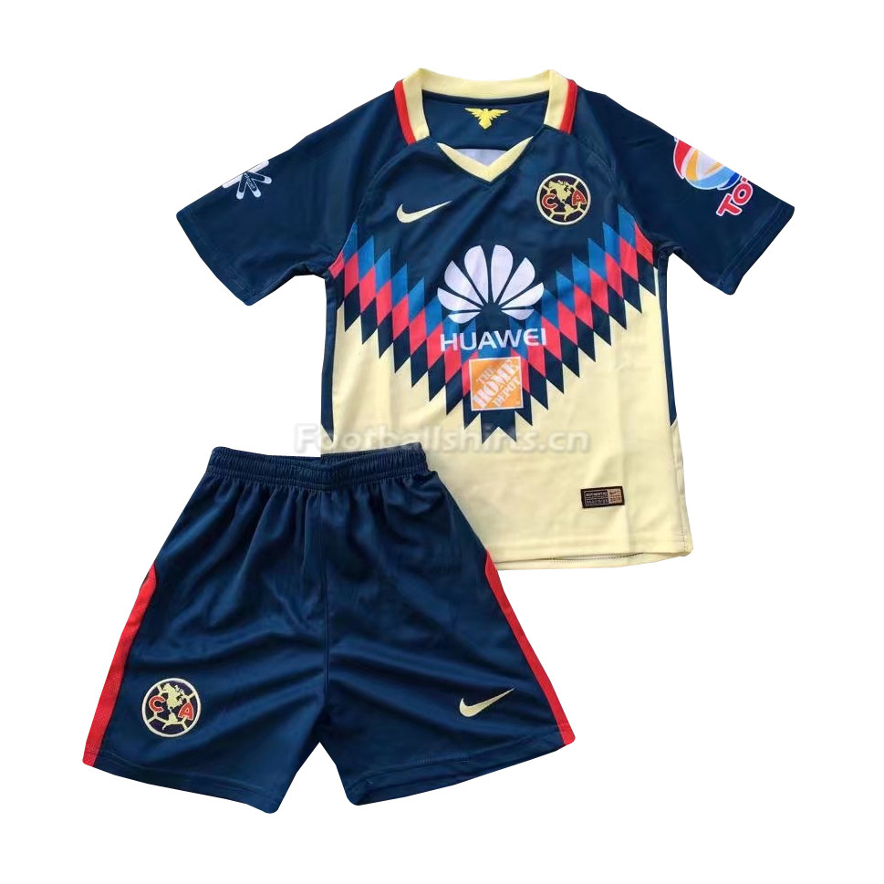 Kids Club America Home Soccer Kit Shirt + Shorts 2017/18