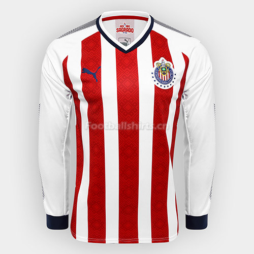 Chivas Home Long Sleeve Soccer Jersey 2017/18