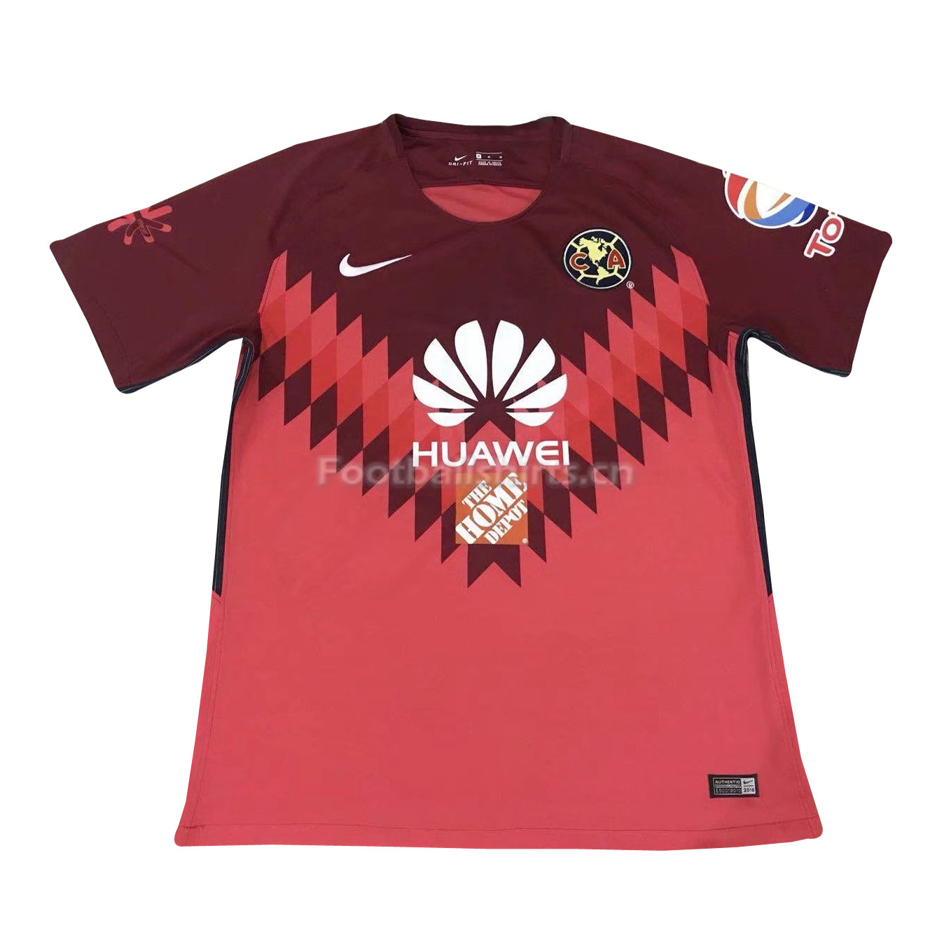 Club America Goalkeeper Red Soccer Jersey 2017/18