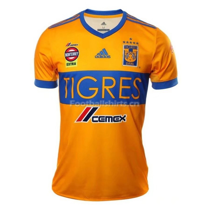 Tigres UANL Home Shirt 6-Star Soccer Jersey 2017/18