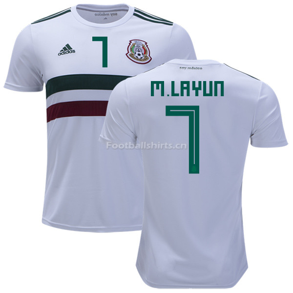 5080ba162c2 Mexico 2018 World Cup Away MIGUEL LAYUN 7 Soccer Jersey  SOCCER4543 ...