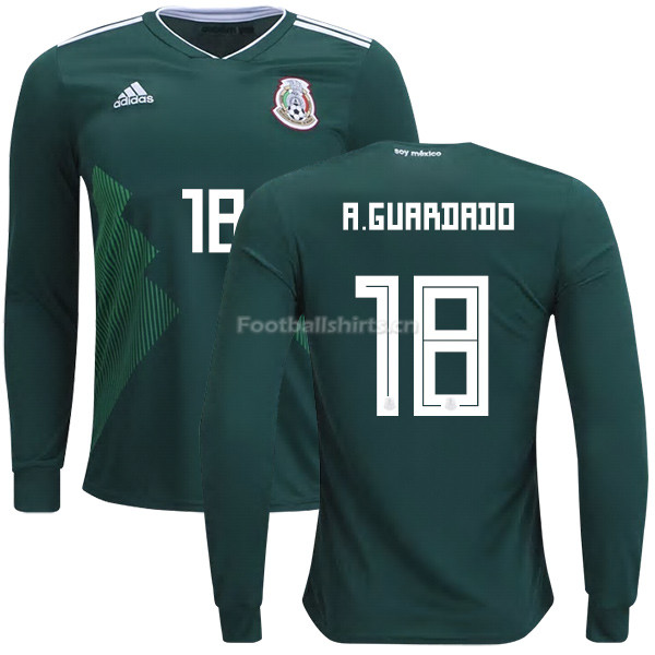 Mexico 2018 World Cup Home ANDRES GUARDADO 18 Long Sleeve Soccer