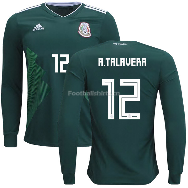 Mexico 2018 World Cup Home ALFREDO TALAVERA 12 Long Sleeve Socce