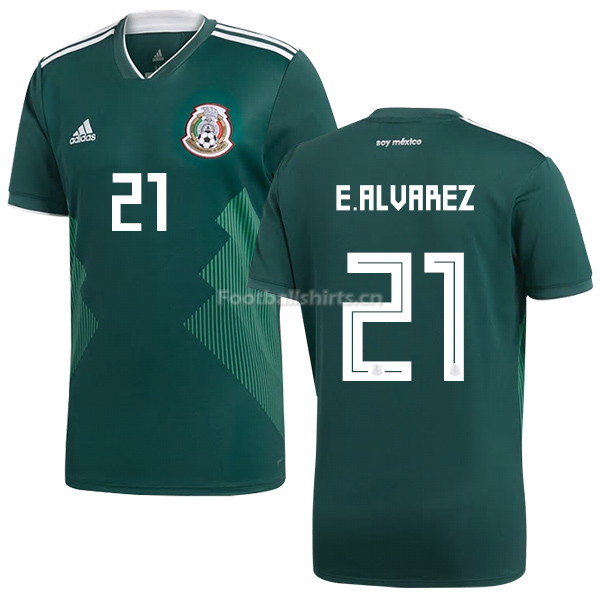 Mexico 2018 World Cup Home EDSON ALVAREZ 21 Soccer Jersey
