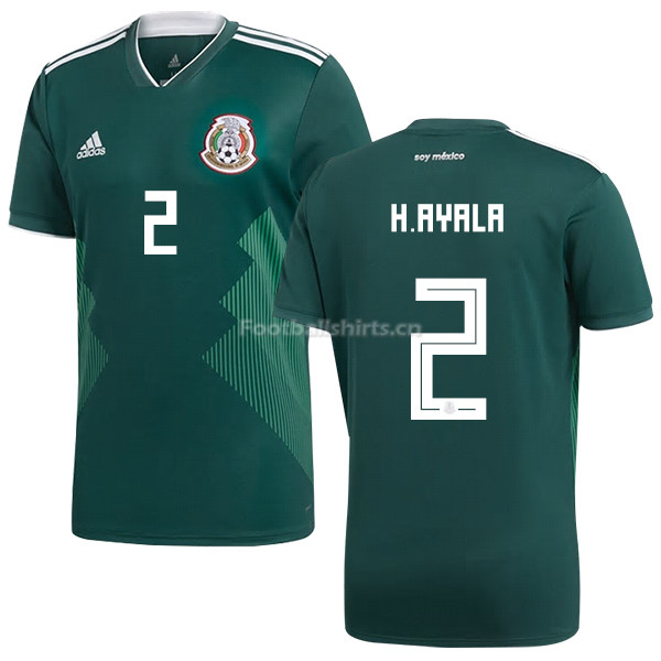 Mexico 2018 World Cup Home HUGO AYALA 2 Soccer Jersey