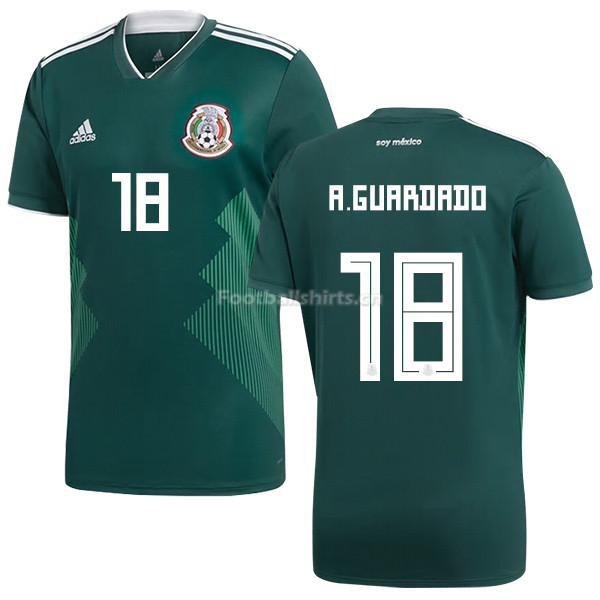 c209acbbf Mexico 2018 World Cup Home ANDRES GUARDADO 18 Soccer Jersey ...