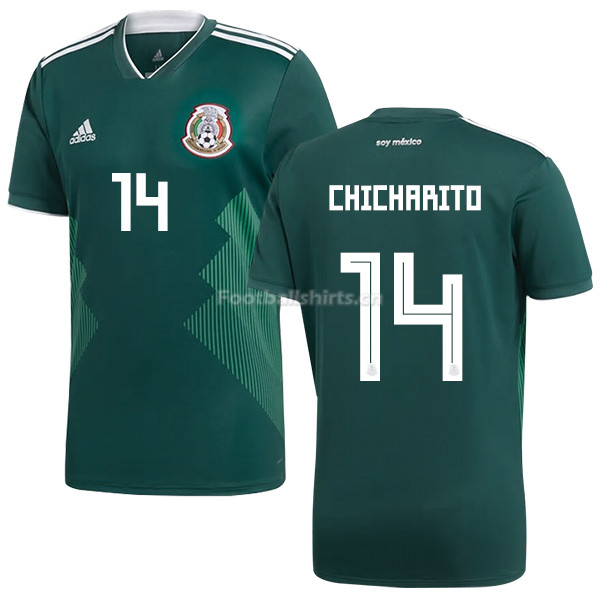 Mexico 2018 World Cup Home JAVIER HERNANDEZ 14 Soccer Jersey