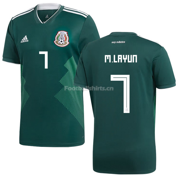 Mexico 2018 World Cup Home MIGUEL LAYUN 7 Soccer Jersey