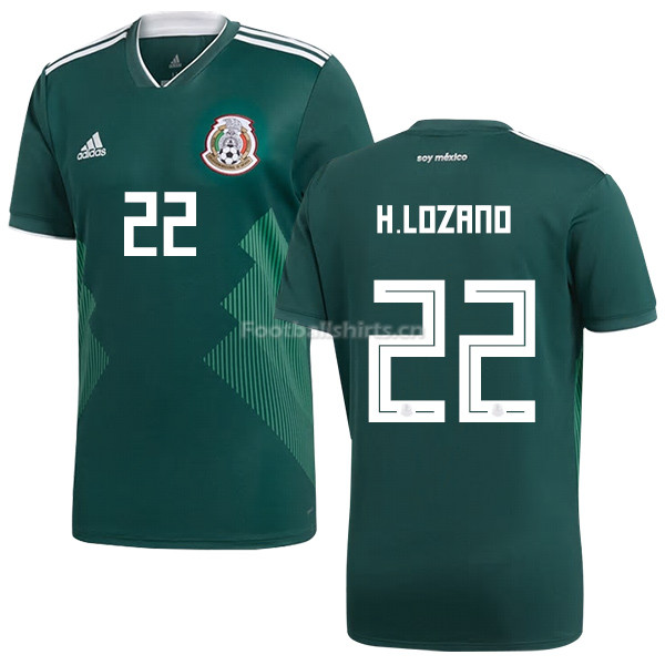 Mexico 2018 World Cup Home HIRVING LOZANO 22 Soccer Jersey