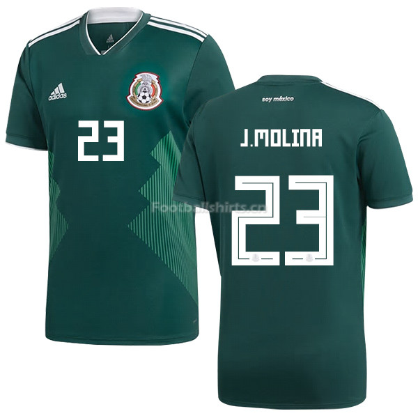 Mexico 2018 World Cup Home JESUS MOLINA 23 Soccer Jersey