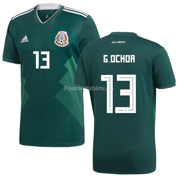Mexico 2018 World Cup Home GUILLERMO OCHOA 13 Soccer Jersey