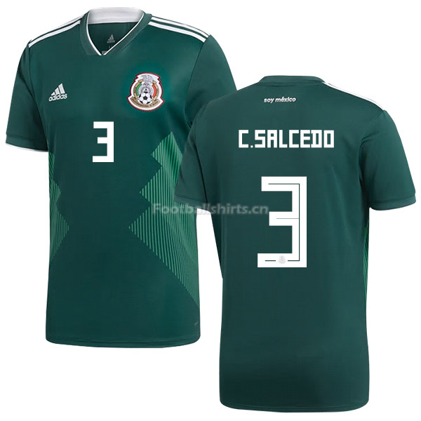 Mexico 2018 World Cup Home CARLOS SALCEDO 3 Soccer Jersey
