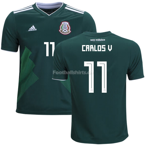 Mexico 2018 World Cup Home CARLOS VELA 11 Soccer Jersey