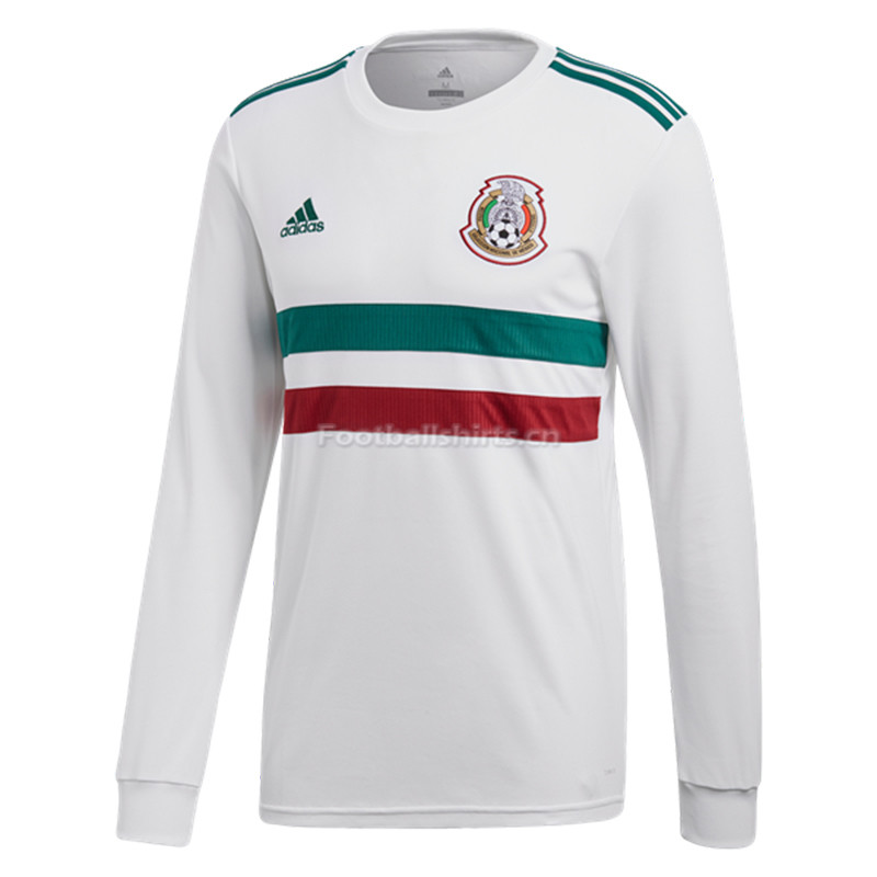 Mexico 2018 World Cup Away Long Sleeve Soccer Jersey
