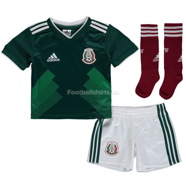 Kids Mexico 2018 FIFA World Cup Home Soccer Whole Kits (Shirt+Sh