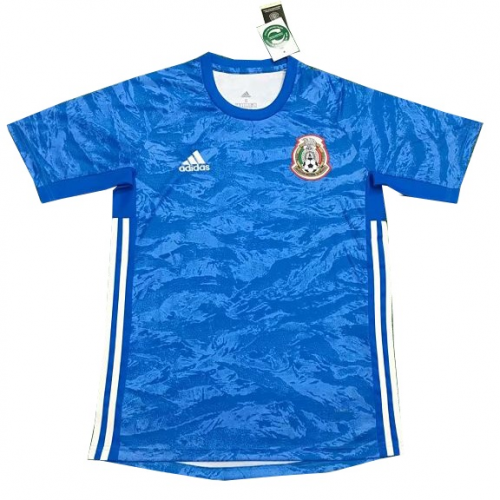 Mexico Goalkeeper Soccer Jersey Blue 2019