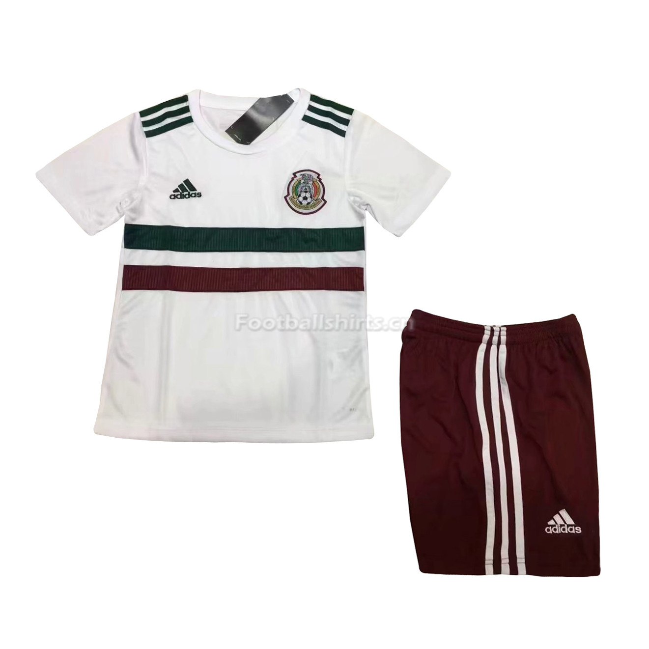 Kids Mexico 2018 FIFA World Cup Away Soccer Kit Shirt + Shorts