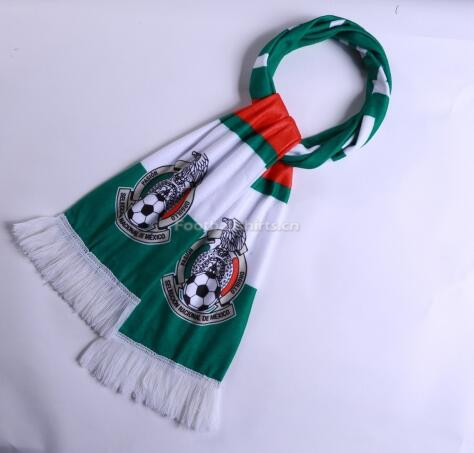 2018 World Cup Mexico Soccer Scarf Green