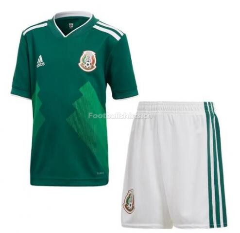 Mexico 2018 World Cup Home Soccer Kits (Shirt+Shorts)