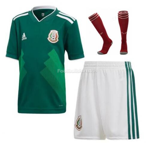 Mexico 2018 World Cup Home Soccer Whole Kits (Shirt+Shorts+Socks