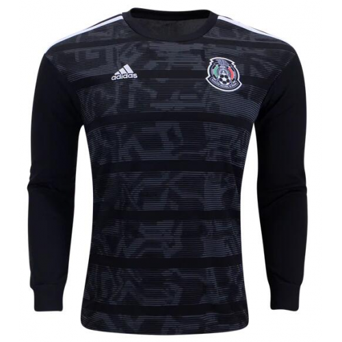 Mexico Home Soccer Jersey Long Sleeve 2019
