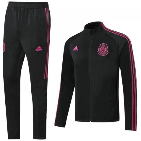Mexico Training Jacket Suits Black Pink 2020