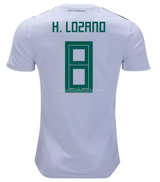 Mexico 2018 World Cup Away Hirving Lozano Soccer Jersey