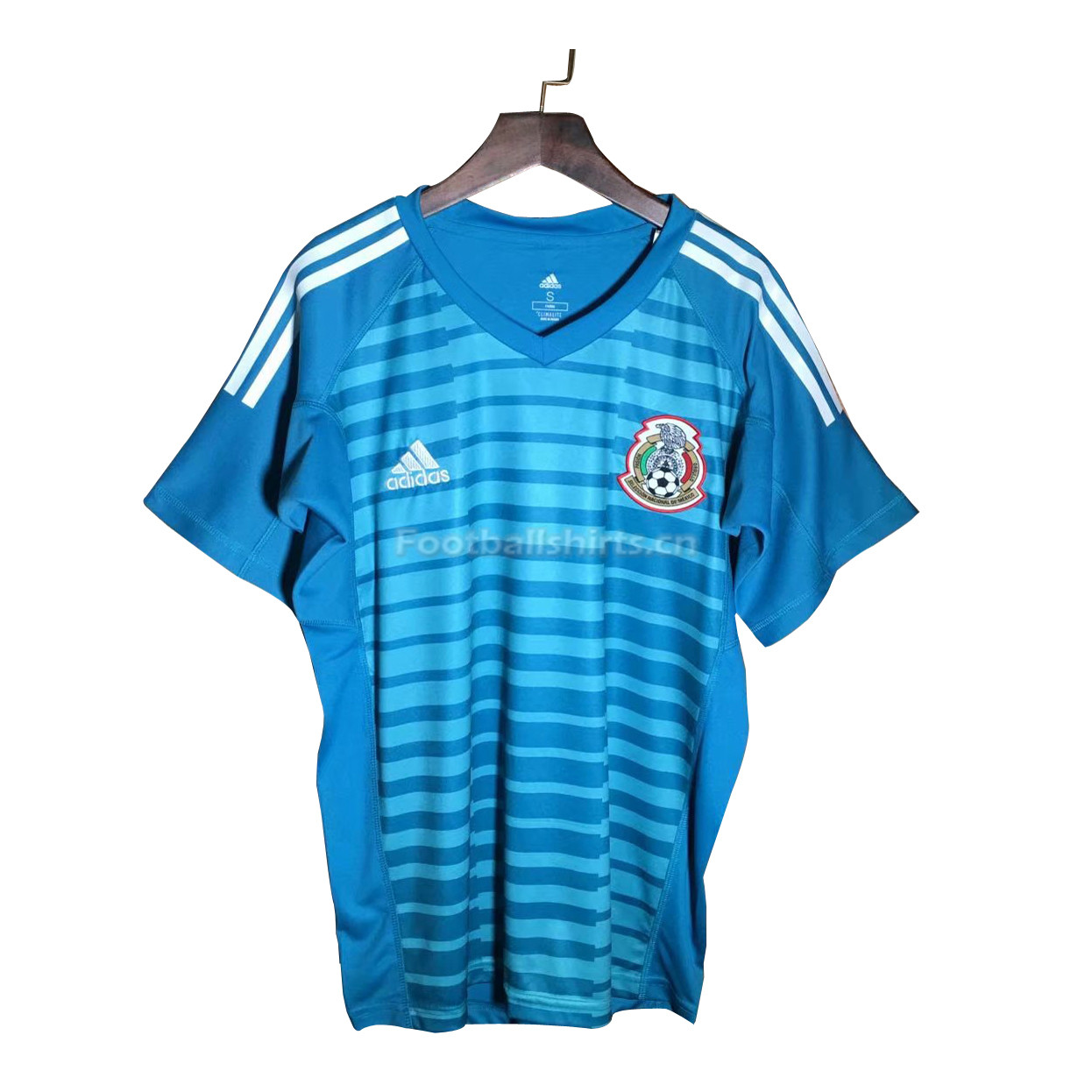 Mexico 2018 World Cup Blue Goalkeeper Soccer Jersey