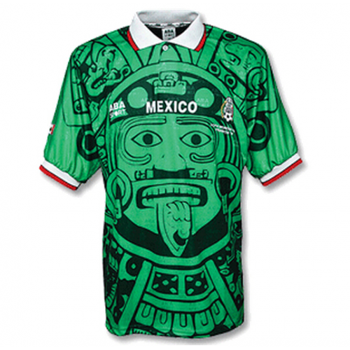 Retro Mexico Home Soccer Jersey 1998