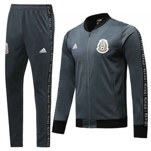 Mexico Training Jacket Suits Grey 2019