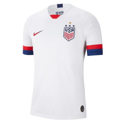 USA Home Soccer Jersey 4 Stars 2019 World Cup