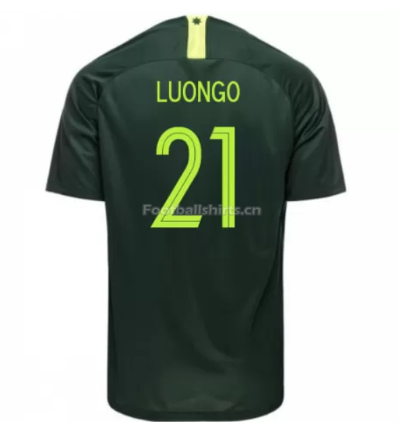 Australia 2018 FIFA World Cup Away Massimo Luongo Soccer Jersey