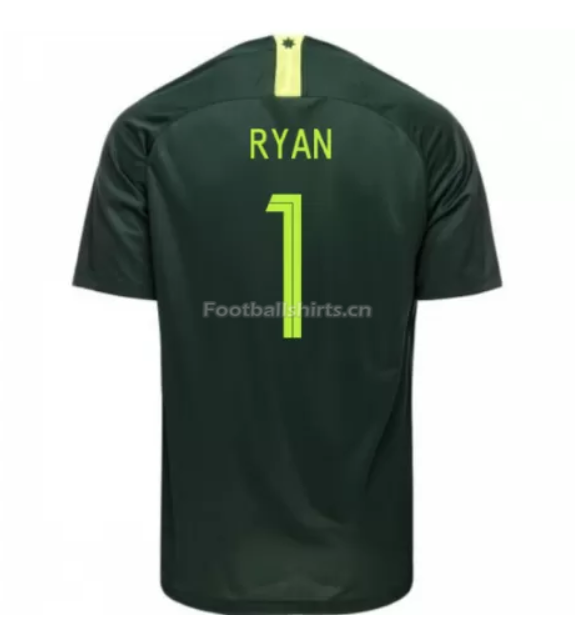 Australia 2018 FIFA World Cup Away Mathew Ryan Soccer Jersey