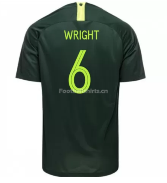 Australia 2018 FIFA World Cup Away Bailey Wright Soccer Jersey