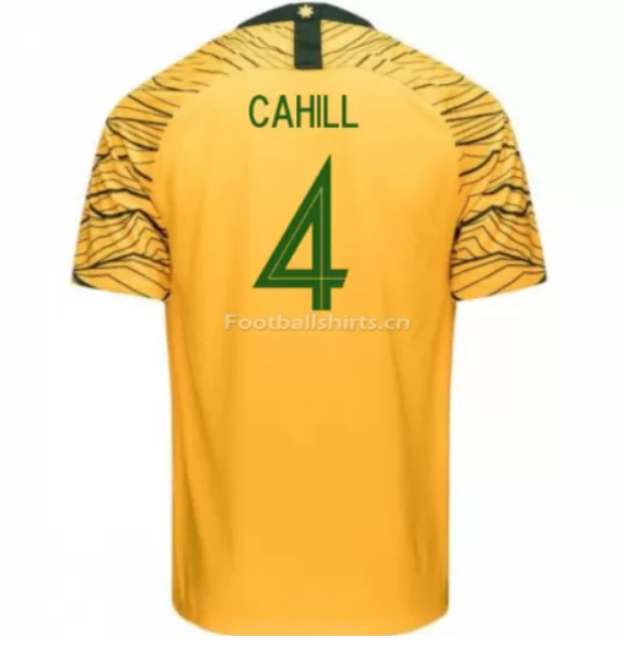 Australia 2018 FIFA World Cup Home Tim Cahill Soccer Jersey