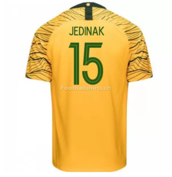 Australia 2018 FIFA World Cup Home Mile Jedinak Soccer Jersey