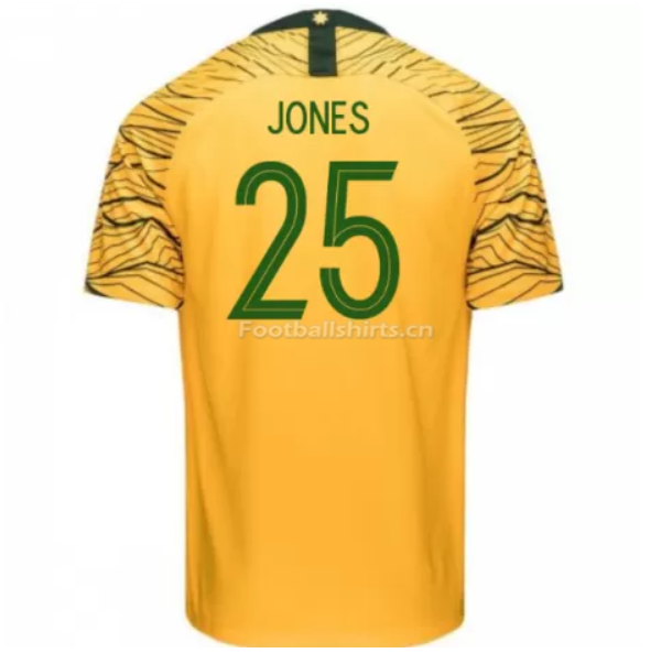 Australia 2018 FIFA World Cup Home Brad Jones Soccer Jersey