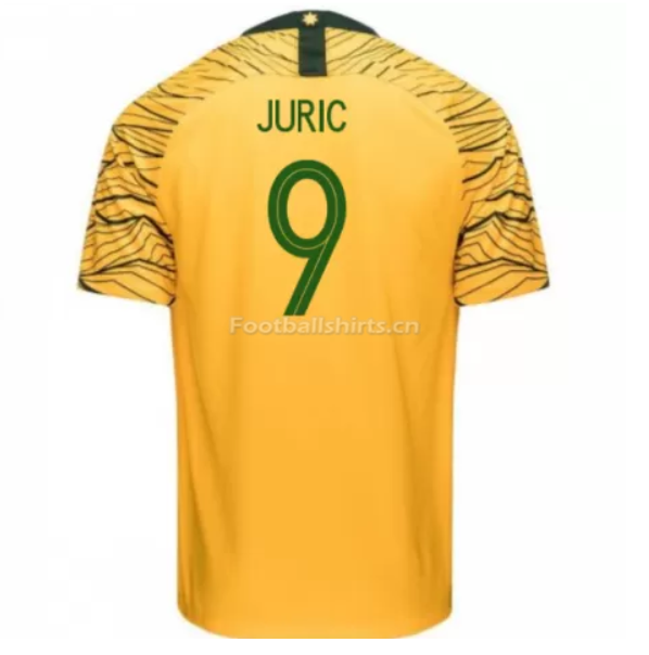 Australia 2018 FIFA World Cup Home Tomi Juric Soccer Jersey