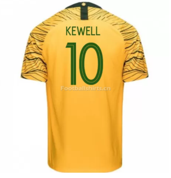Australia 2018 FIFA World Cup Home Harry Kewell Soccer Jersey