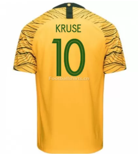 Australia 2018 FIFA World Cup Home Robbie Kruse Soccer Jersey
